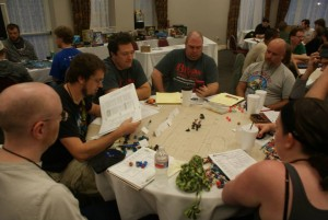 Ken runs a table of D&D Adventurers League at TsunamiCon 2014!